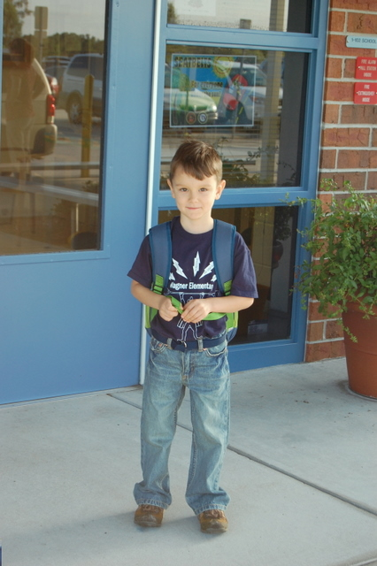 Noah's first day of Kindergarten!