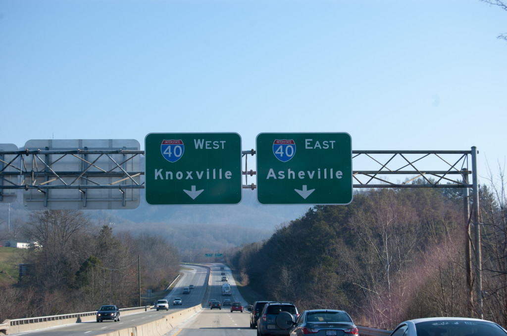 Knoxville or Asheville