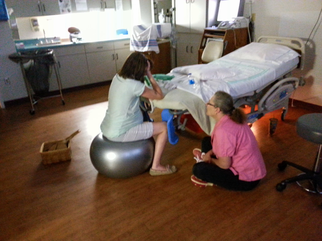 Laboring with Doula