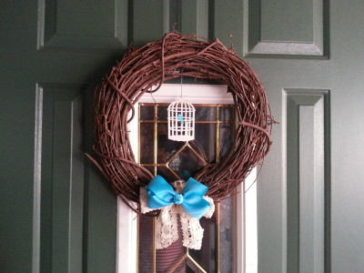 bluebird wreath