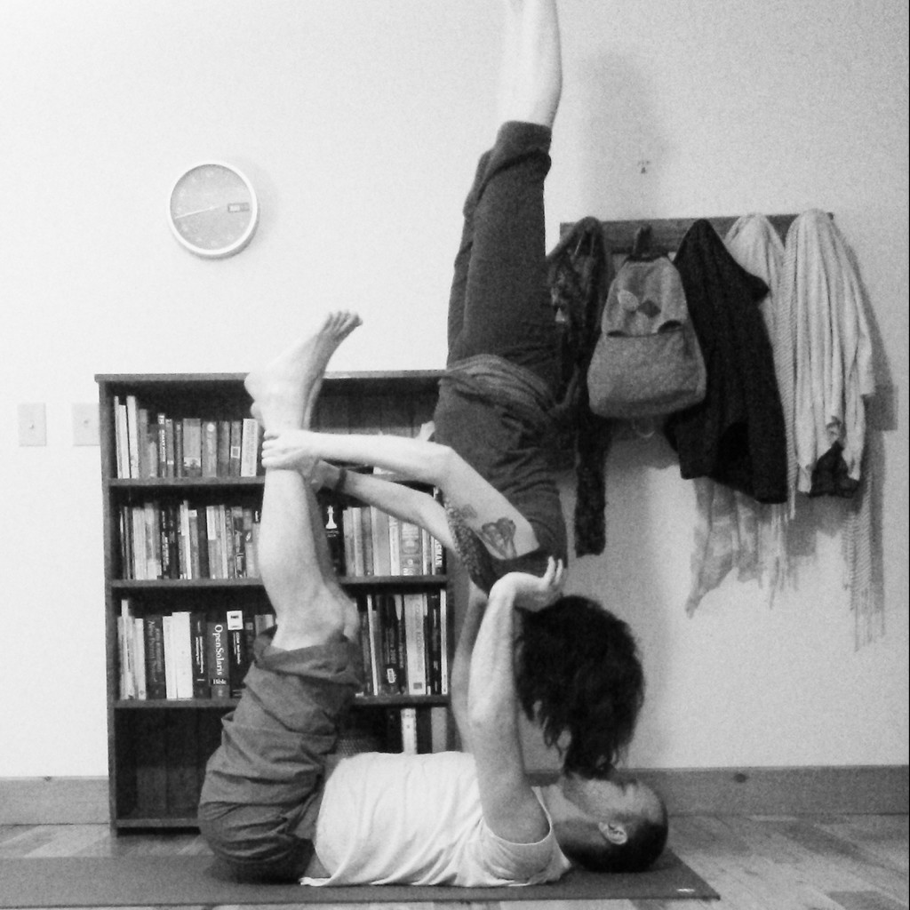 Supported Shoulderstand Acroyoga