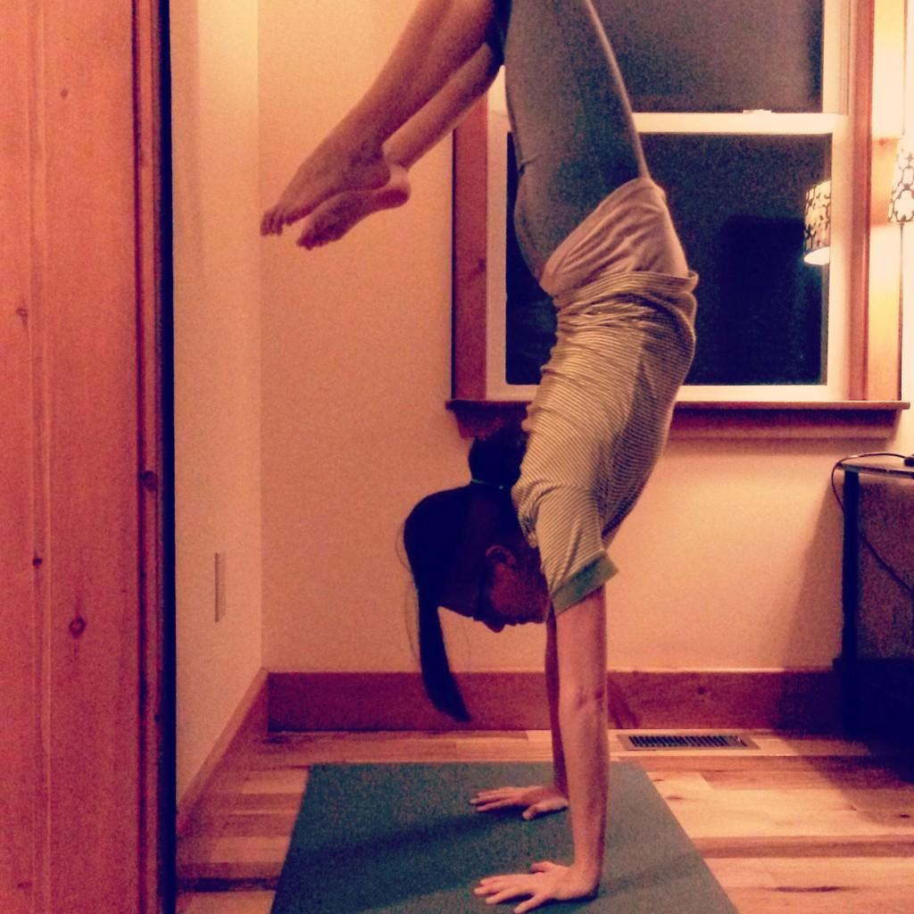 Handstand scorpion
