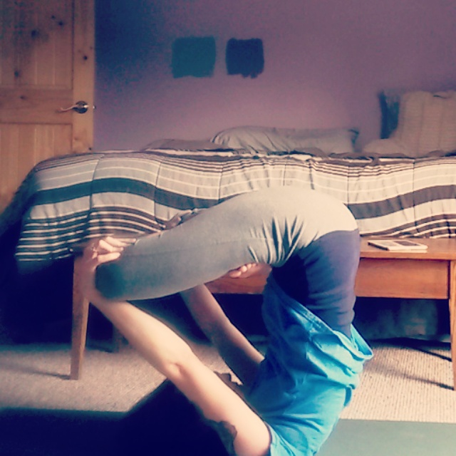 Shoulderstand with lotus pose