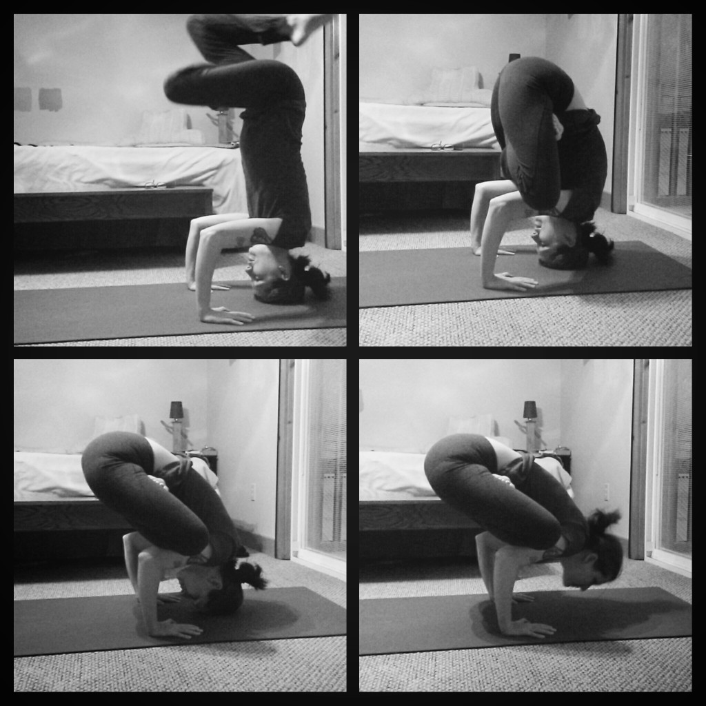 Lotus bakasana transition